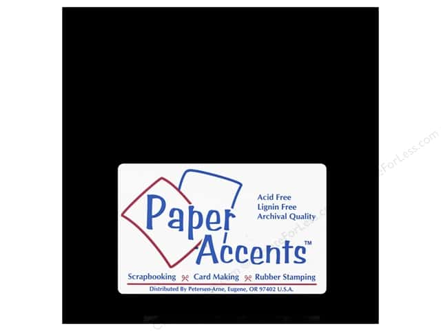 Paper Accents Chipboard 6 x 6 in. 90 pt. 2X Heavy Black (25 sheets)