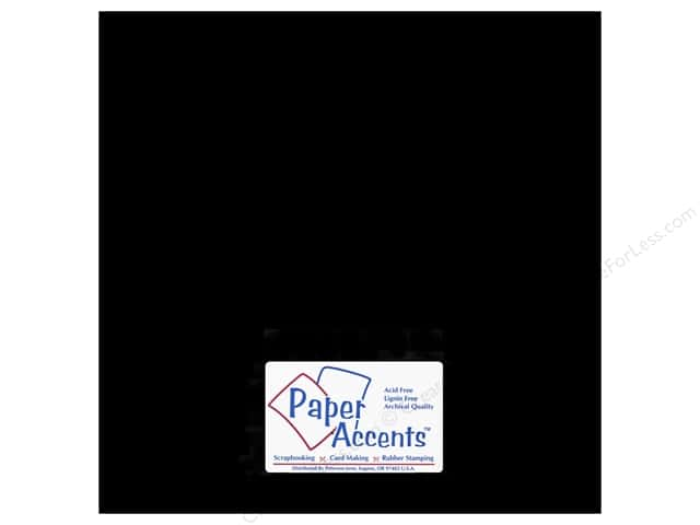 Paper Accents Chipboard 12 x 12 in. 90 pt. 2X Heavy Black (25 sheets)