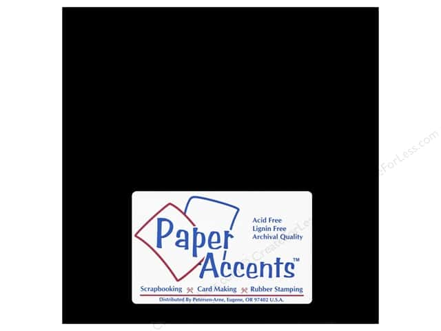 Paper Accents Chipboard 8 x 8 in. 90 pt. 2X Heavy Black 2 pc.