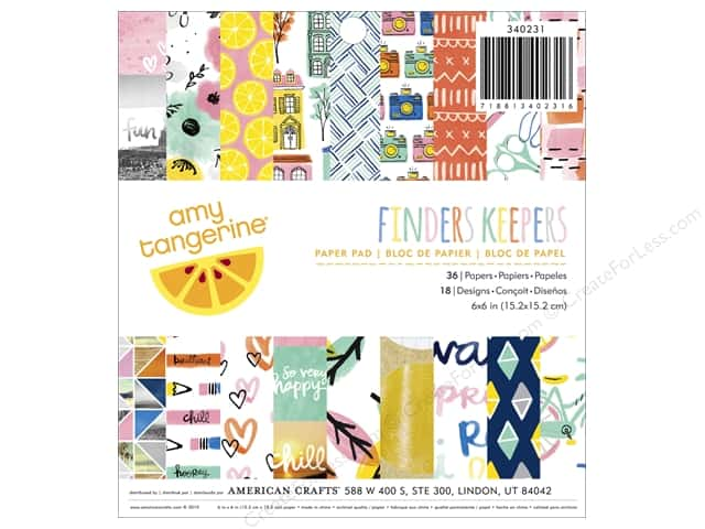 American Crafts 6 x 6 in. Paper Pad Amy Tangerine Finders Keepers