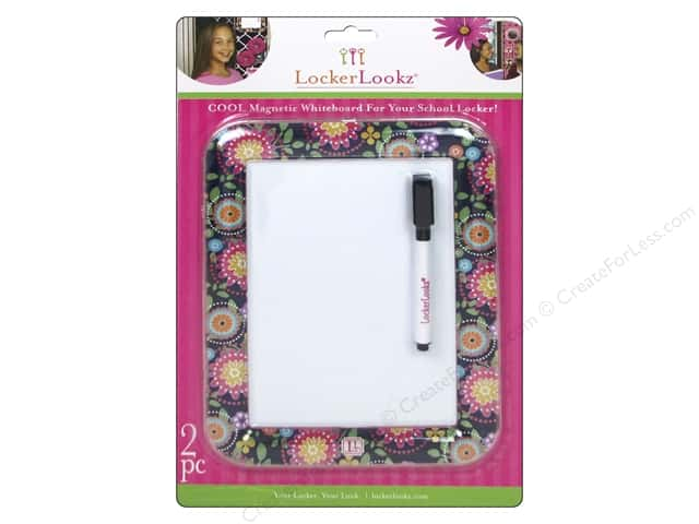 LockerLookz Dry Erase Board Navy Floral