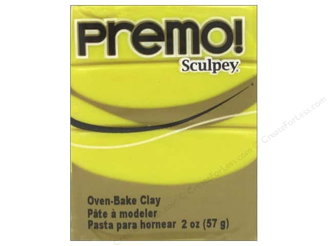 Premo! Sculpey Polymer Clay 2 oz. Zinc Yellow