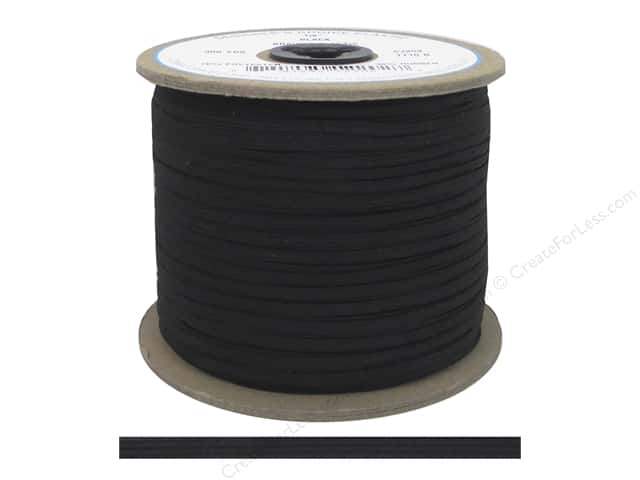 Conrad Jarvis Braided Flat Elastic 1/8 in. x 300 yd. Black (300 yards)