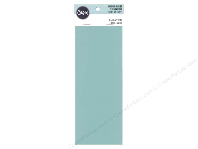 "Sizzix Accessories Leather Cowhide 3""x 9"" Turquoise"