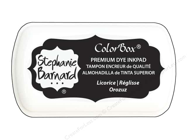 ColorBox Premium Dye Mini Ink Pad by Stephanie Barnard Licorice