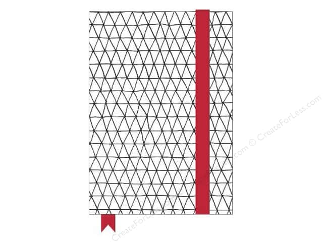 American Crafts Adult Coloring Notebook with Elastic Band Hall Pass Triangles