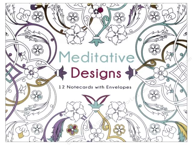 Lark Office Meditative Designs Coloring Note Cards 12pc