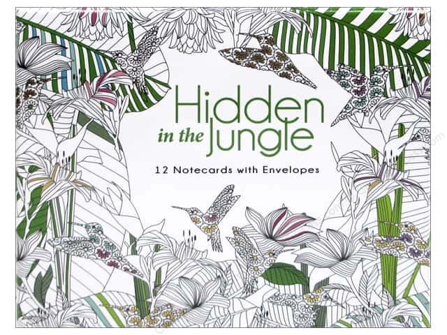 Lark Office Hidden in the Jungle Coloring Note Cards 12pc