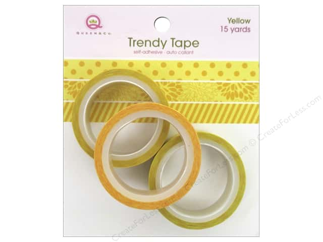Queen&Co Trendy Tape Trio Set Yellow