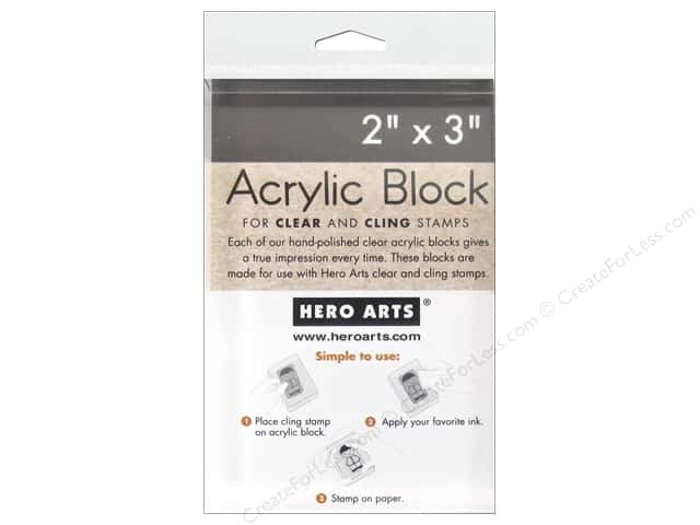 Hero Arts Acrylic Stamp Block 2 x 3 in.