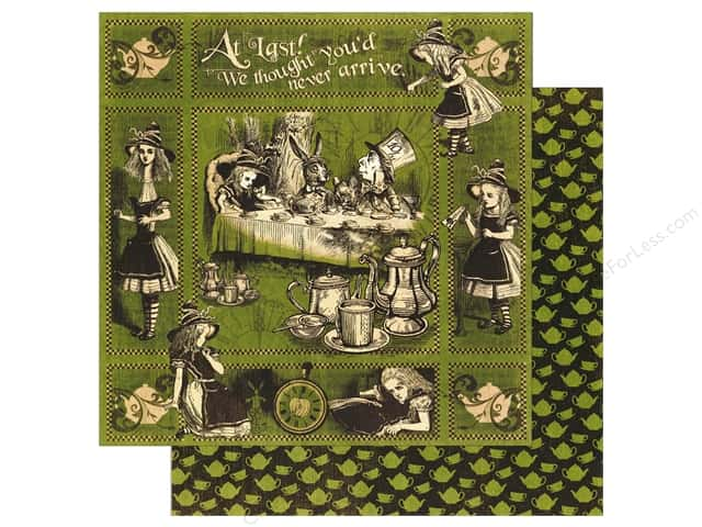 Graphic 45 12 x 12 in. Paper Halloween in Wonderland Alice's Tea Party (25 sheets)