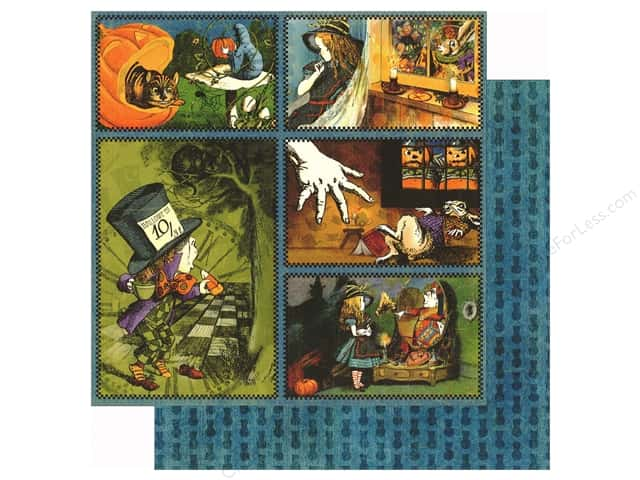 Graphic 45 12 x 12 in. Paper Halloween in Wonderland Through The Looking Glass (25 sheets)