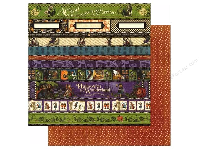 Graphic 45 12 x 12 in. Paper Halloween in Wonderland At Last (25 sheets)
