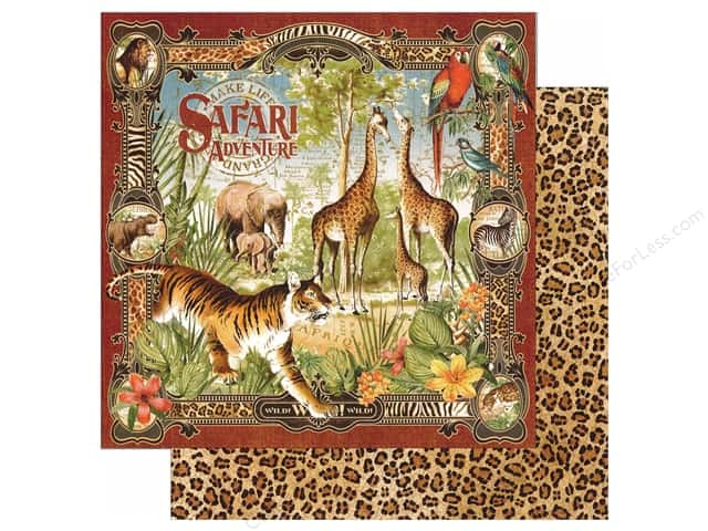 Graphic 45 12 x 12 in. Paper Safari Adventure (25 sheets)