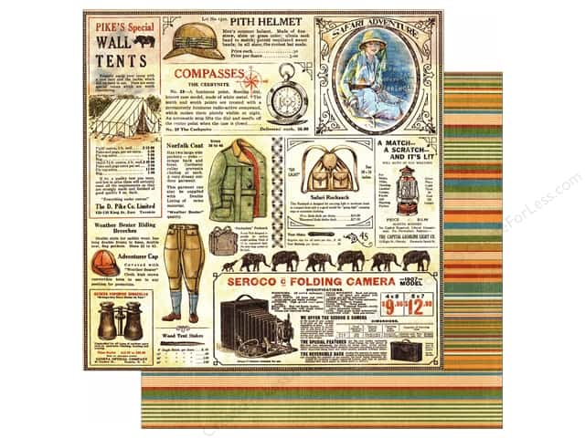 Graphic 45 12 x 12 in. Paper Safari Adventure Serengeti Outfitters (25 sheets)