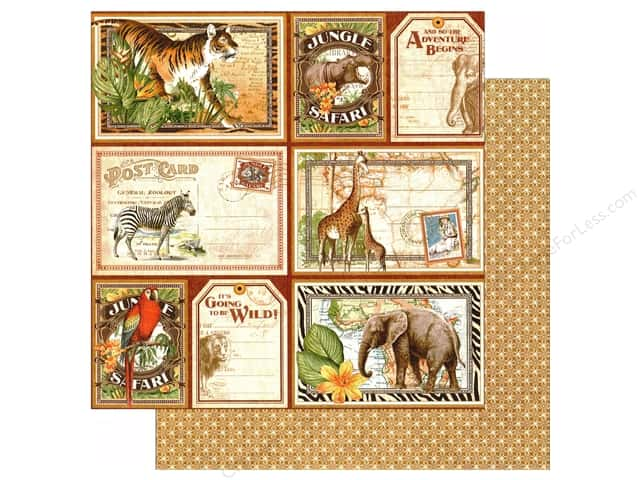 Graphic 45 12 x 12 in. Paper Safari Adventure Jungle Expedition (25 sheets)