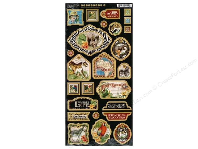 Graphic 45 Decorative Chipboard Safari Adventure