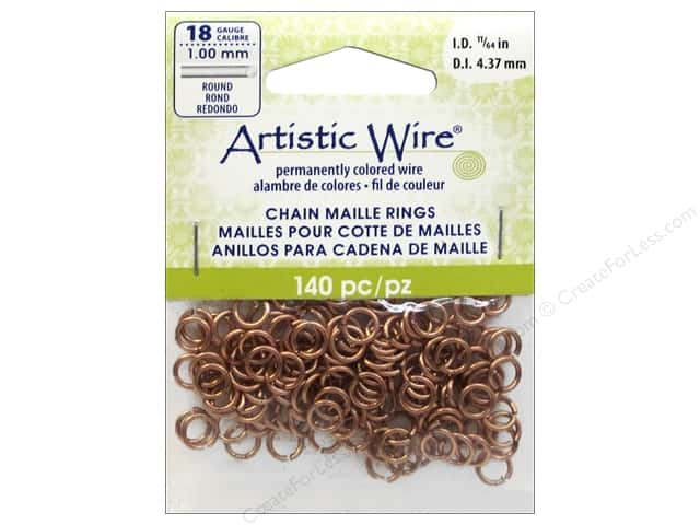Artistic Wire Chain Maille Jump Rings 18 ga. 11/64 in. Natural 140 pc.