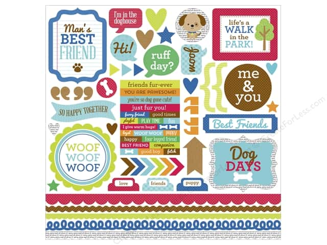 Doodlebug Sticker Puppy Love This & That (12 sets)