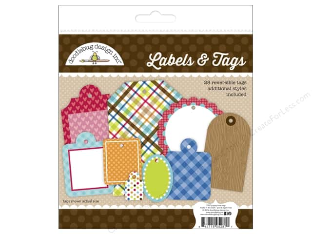 Doodlebug Labels & Tags Puppy Love