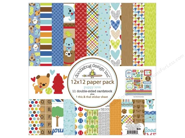 Doodlebug 12 x 12 in. Paper Pack Plus Puppy Love