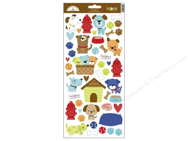 Doodlebug Sticker Puppy Love Icons (12 sets)