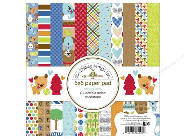 Doodlebug 6 x 6 in. Paper Pad Puppy Love