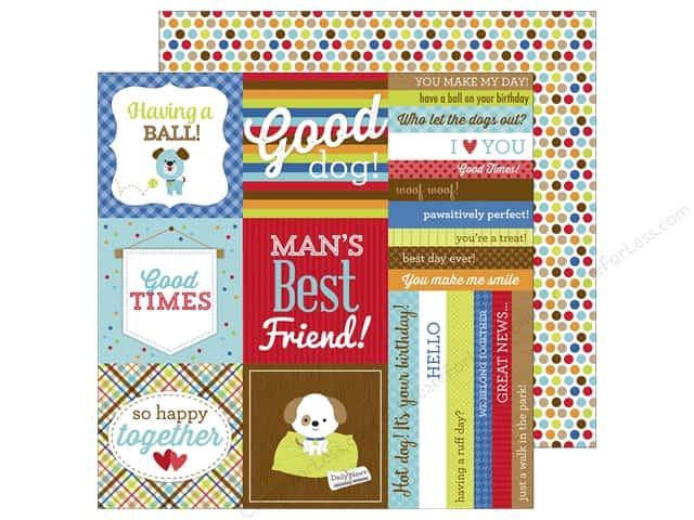 Doodlebug 12 x 12 in. Paper Puppy Love See Spot Run (25 sheets)