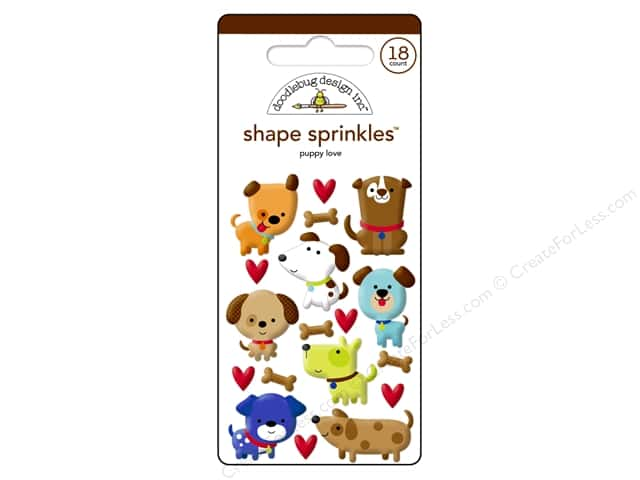 Doodlebug Sprinkles Stickers Puppy Love