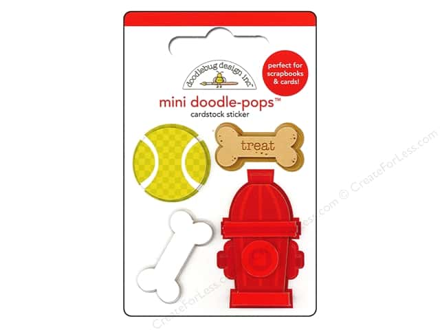 Doodlebug Doodle-Pops 3-D Stickers Puppy Love Mini Puppy
