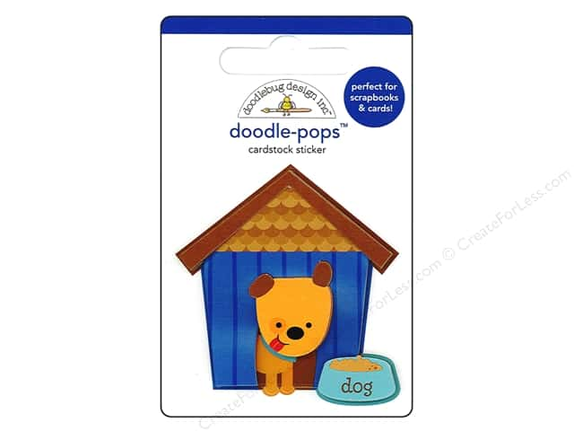 Doodlebug Doodle-Pops 3-D Stickers Puppy Love Huey's House
