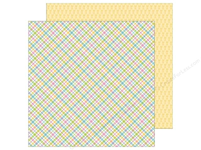 Doodlebug Paper 12 x 12 in. Kitten Smitten Pastel Plaid (25 sheets)