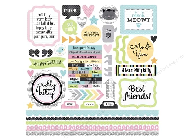 Doodlebug Collection Kitten Smitten Sticker This & That (12 sheets)
