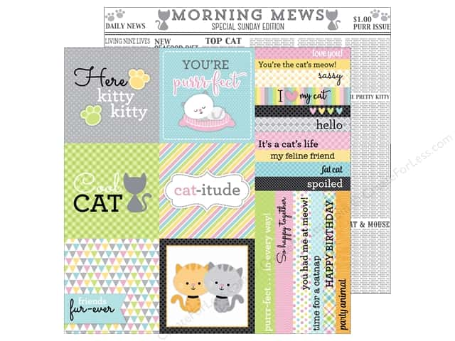 Doodlebug 12 x 12 in. Paper Kitten Smitten Morning Mews (25 sheets)