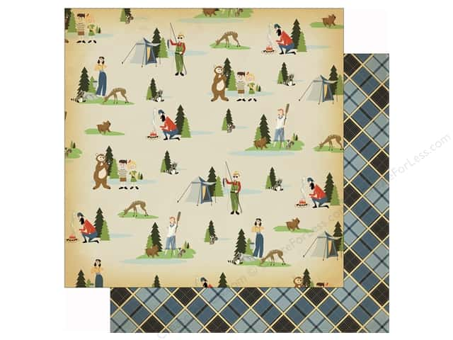 Carta Bella 12 x 12 in. Paper Great Outdoors Let's Camp (25 sheets)
