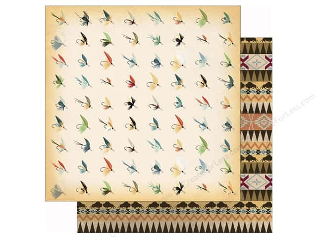 Carta Bella 12 x 12 in. Paper Great Outdoors Fish Flies (25 sheets)