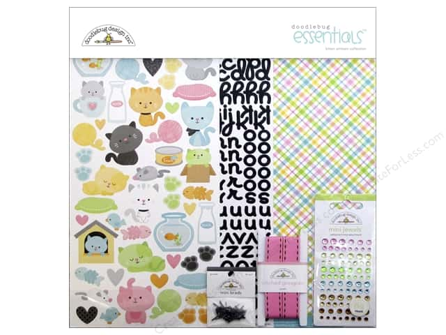 Doodlebug Collection Kitten Smitten Essentials Kit