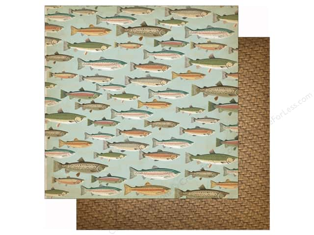Carta Bella 12 x 12 in. Paper Great Outdoors Gone Fishing (25 sheets)