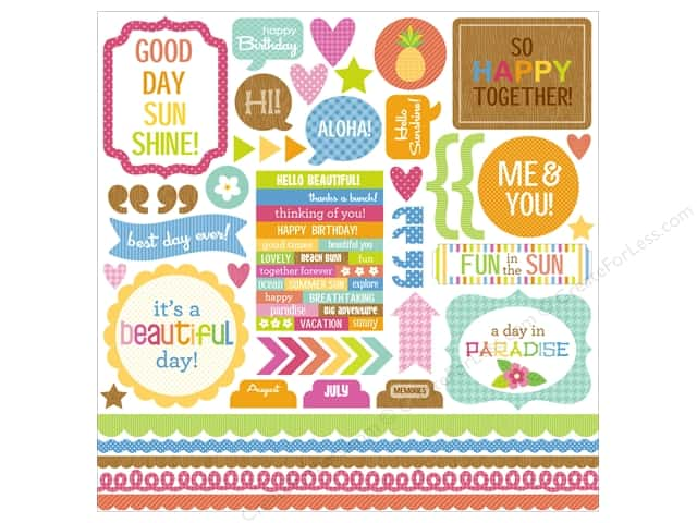 Doodlebug Sticker Fun In The Sun This & That (12 sets)