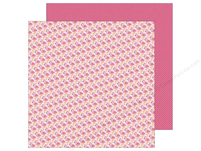 Doodlebug 12 x 12 in. Paper Fun In The Sun Flamingos (25 sheets)