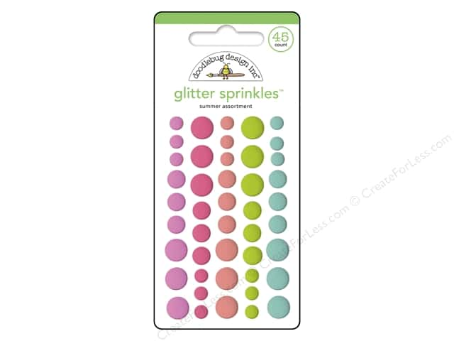 Doodlebug Sprinkles Stickers Fun In The Sun Tropical Assortment