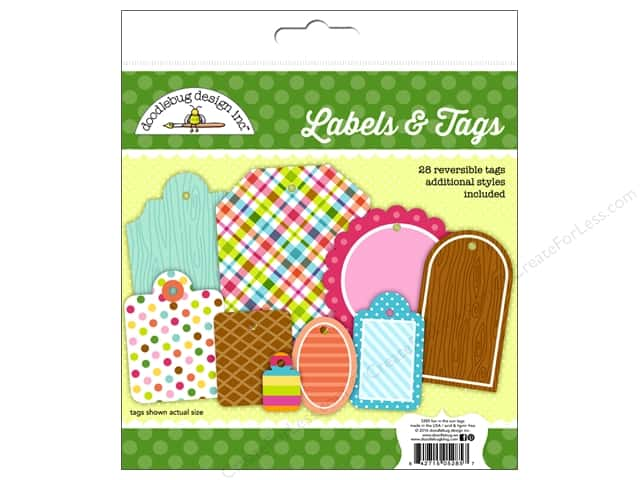 Doodlebug Labels & Tags Fun In The Sun