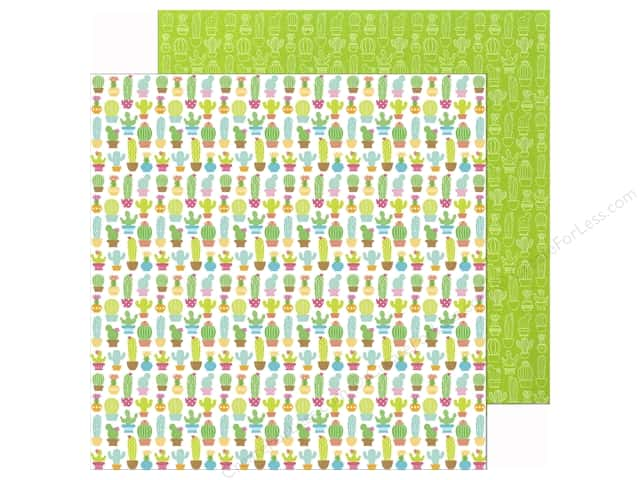 Doodlebug 12 x 12 in. Paper Fun In The Sun Cactus Garden (25 sheets)