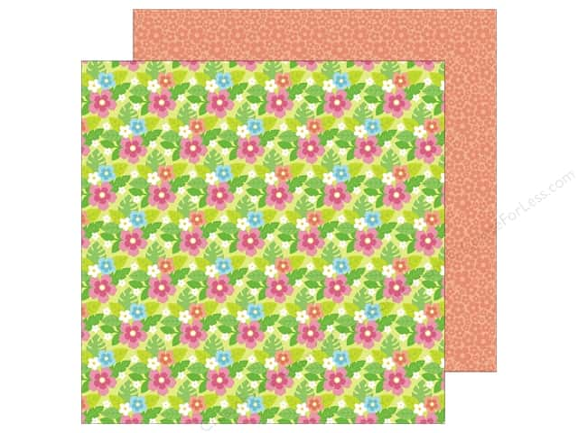 Doodlebug 12 x 12 in. Paper Fun In The Sun Island Blooms (25 sheets)