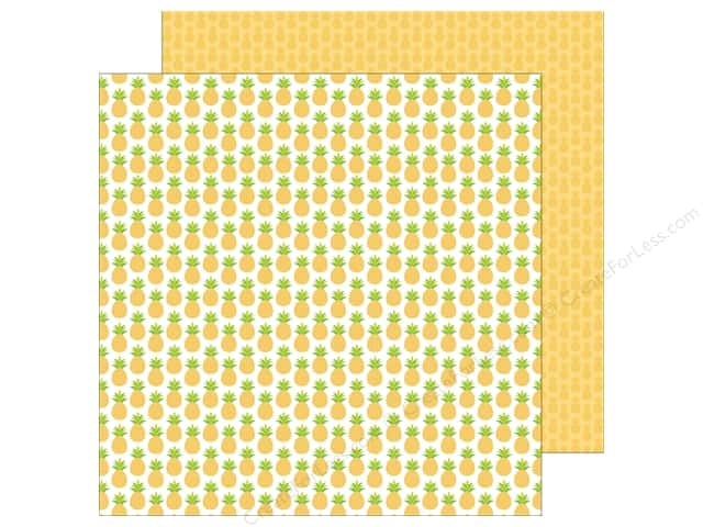 Doodlebug 12 x 12 in. Paper Fun In The Sun Pineapple Crush (25 sheets)