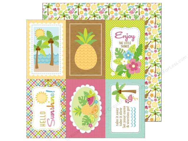 Doodlebug 12 x 12 in. Paper Fun In The Sun (25 sheets)