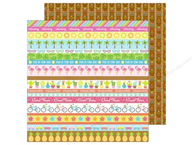 Doodlebug 12 x 12 in. Paper Fun In The Sun Tiki Time (25 sheets)
