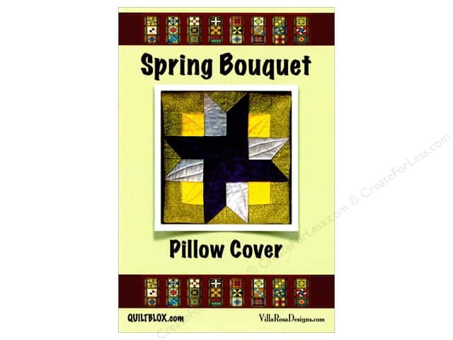 Villa Rosa Designs Spring Bouquet Pillow Cover Pattern Card