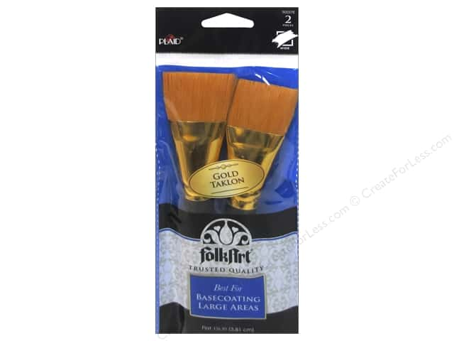 "Plaid Tools FolkArt Brush Basecoating 1.5"" 2pc"
