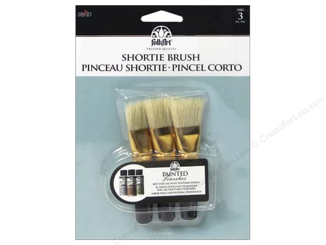 Plaid Tools FolkArt Painted Finish Brush Set Shortie